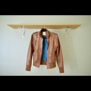 Brown Leather Heritage 1981 Bomber Style Jacket